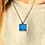 Thumbnail: Moonlight on Galway Bay I Fine Art Glass Pendant Necklace I Smalll Square