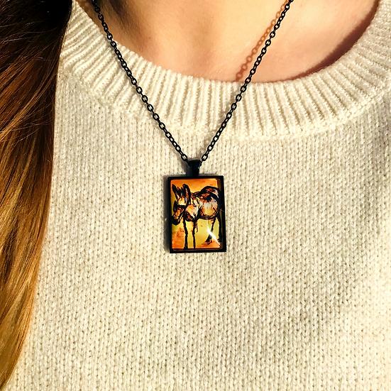 Donkey | Fine Art Glass Pendant Necklace