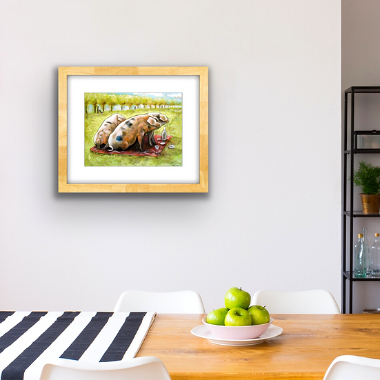 Pigs at the Park | Fine Art Print