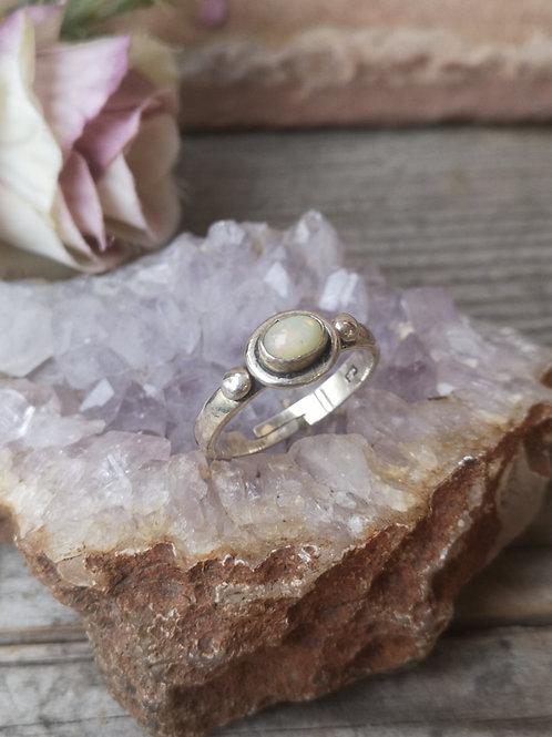 Opal Silberring