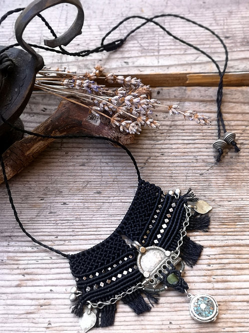 Ethnic Black Necklace