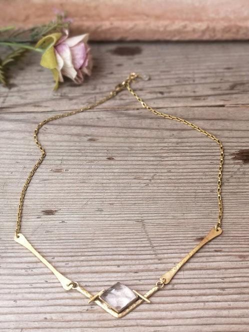 Kristalquarz Halskette