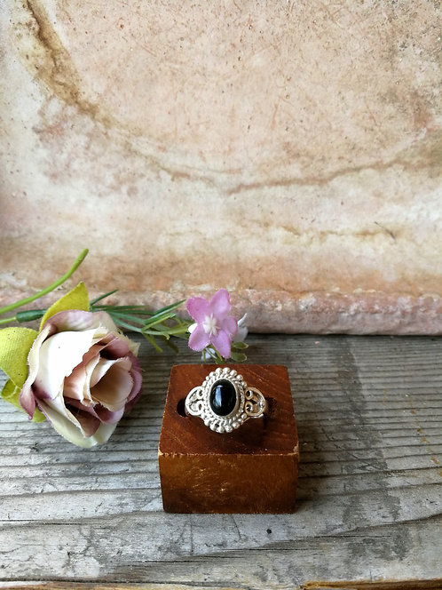 Onix Silber Ring 925