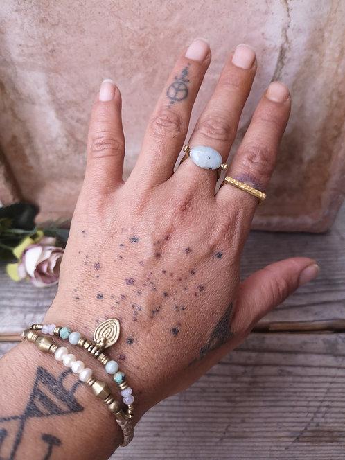 Perlen Armband mit Aventurin