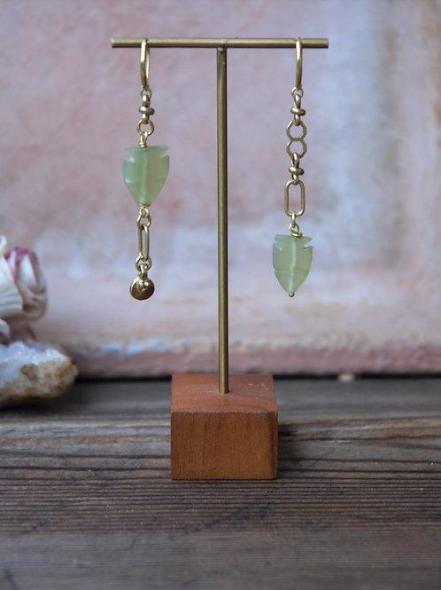 Jade Fisch Ohrringe