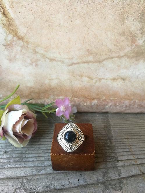Onix Silber Ring