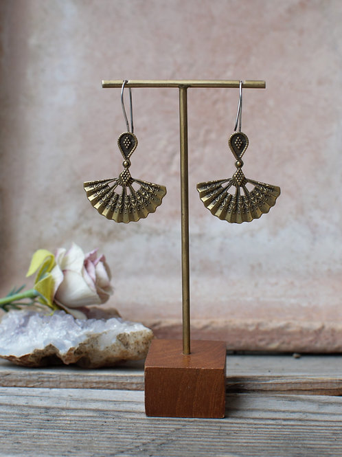 Fächer Ohrringe Gold/Silber