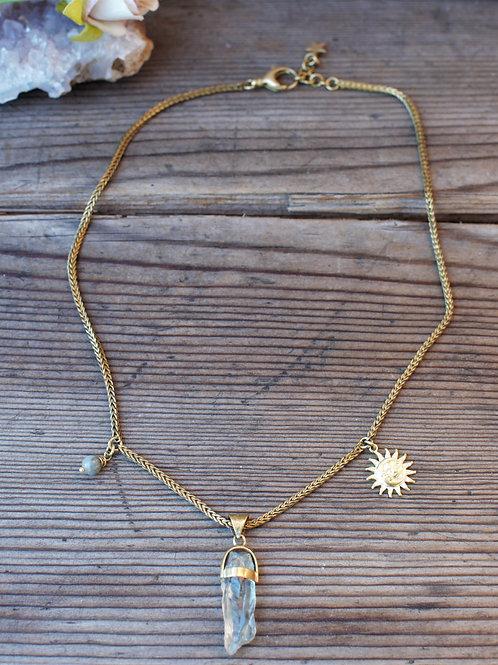 Grüner Amethyst Halskette