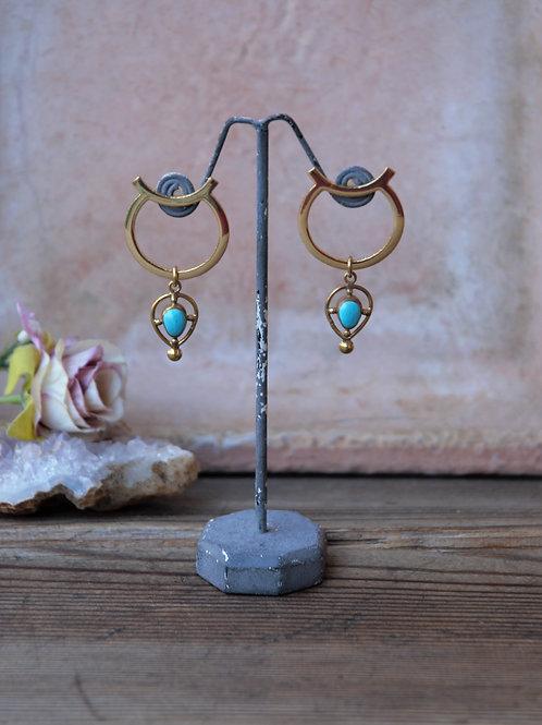 Stecker Ohrringe mit Türkis