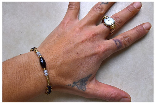 Armband Onix schmal