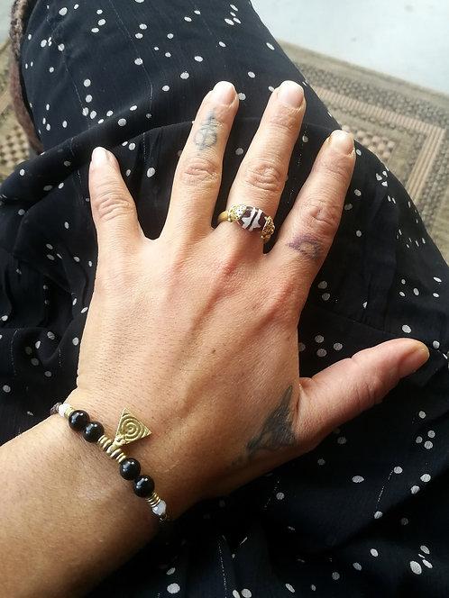Armband Achat-Mondsteinen