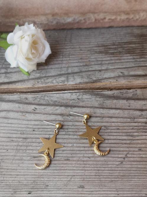 Stars-Moon Earrings