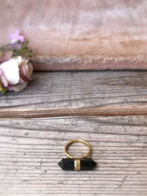 Onix Spitze Ring