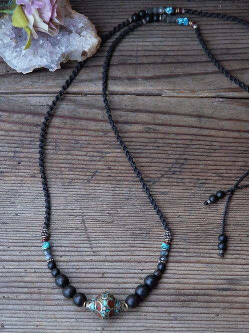 Ethnische Türkis Koralle Halskette