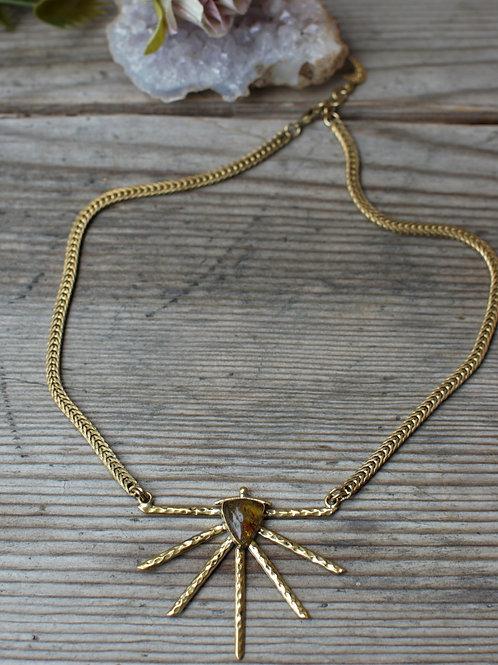 Sonne/Bernstein Halskette