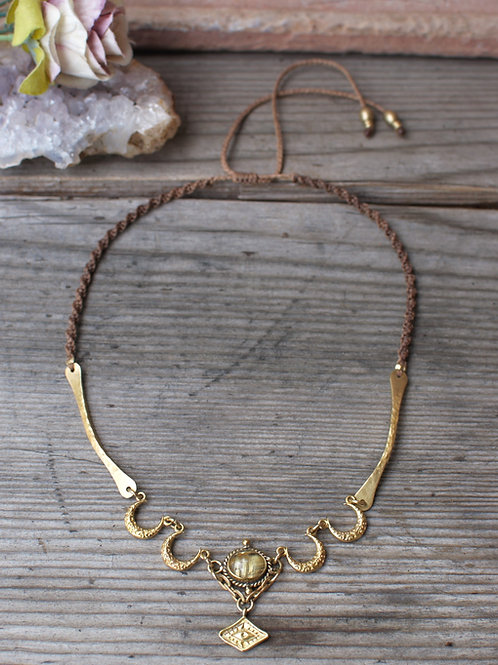 Rutilquarz Mond Halskette
