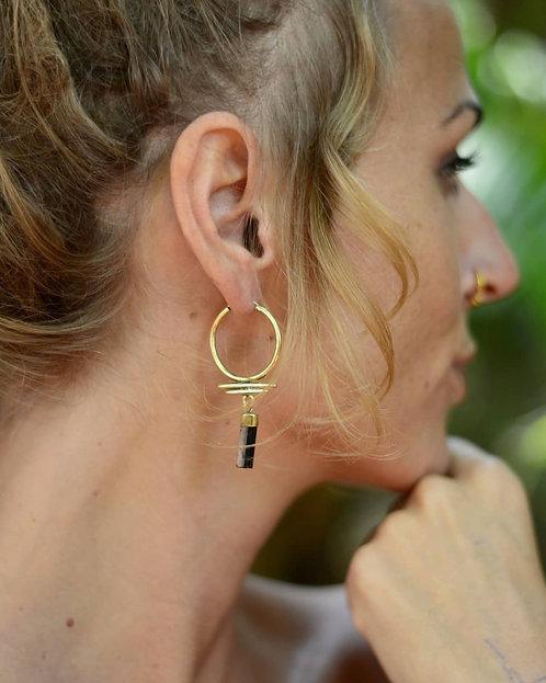 Schwarze Turmalin Ohrringe
