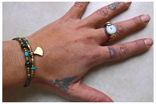 Armband Türkis doppel
