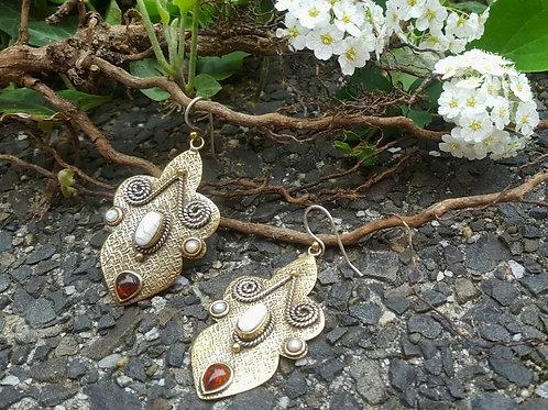 Afgahni Ohrringe Perle