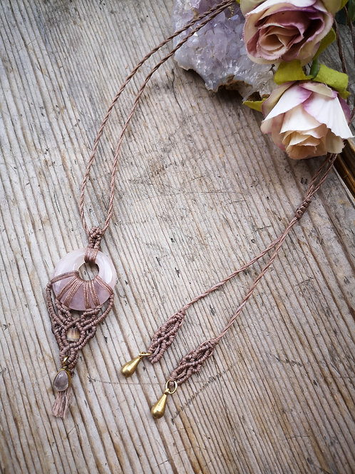 Halskette Rosenquarz