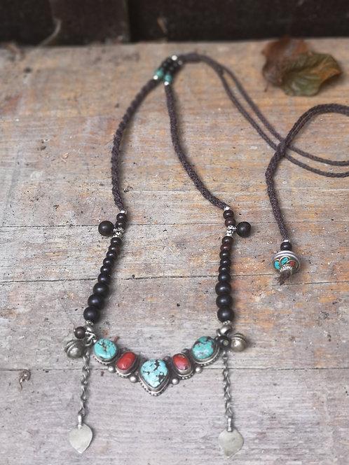 Ethnische Tibetische Halskette