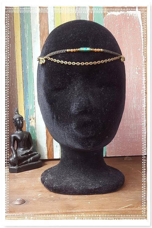 Kopfband mit Türkis