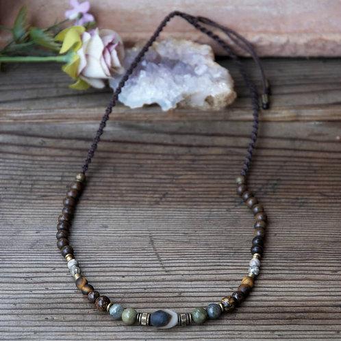 Männer Halskette Ancient Achat