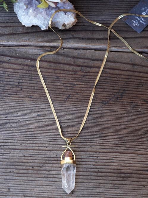 Halskette Bergkristall~Topas