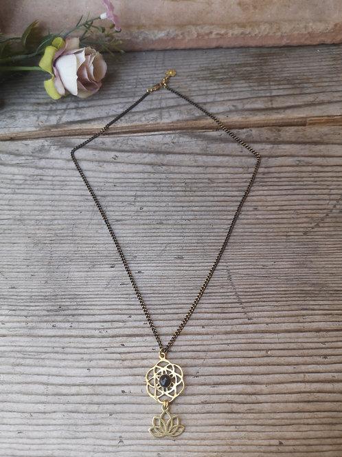 Halskette Samen des Lebens Onix