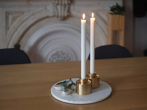 BRASS STACKING CANDLE HOLDERS