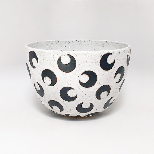 BLACK CRESCENT MOON BOWL