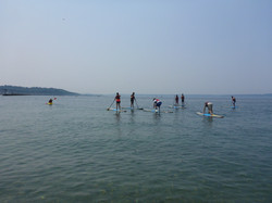 Paddle boarding on Puget Sound