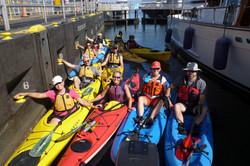 Kayaking through the Ballard locks