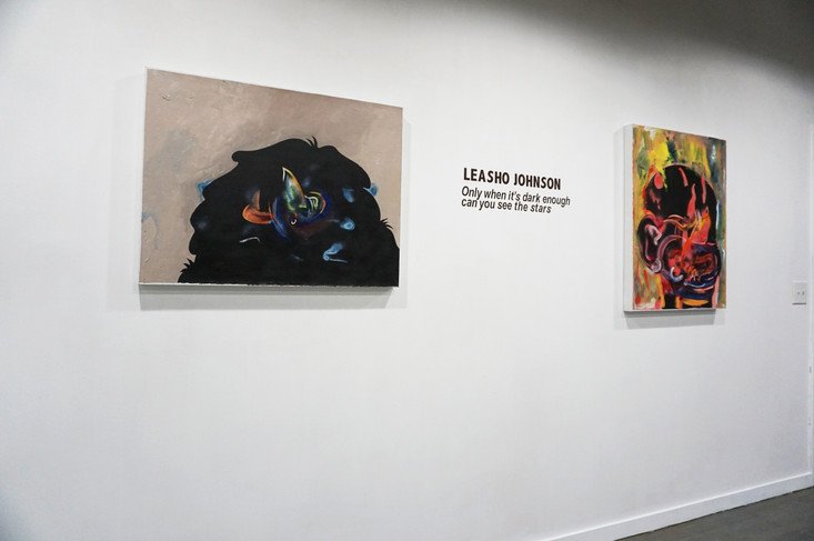 Gallery wall and title