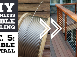 Cheapest DIY Stainless Cable Deck Railing Pt.5: INSTALLATION - Running the cables through the posts