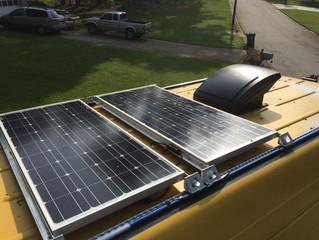 Solar Panel Installation on 2006 Dodge Mercedes Sprinter Camper Van RV
