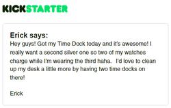 Kickstarter Testimonial TimeDock 5