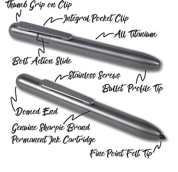 Bauen Marksmith BAM! Bolt Action Titanium Marker Specificatons