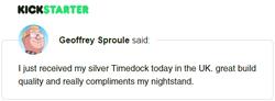 Kickstarter Testimonial TimeDock 16