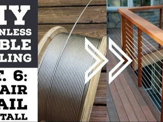 Cheapest DIY Stainless Cable Deck Railing Pt.6: Install Cables On Stair Railing