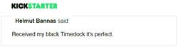 Kickstarter Testimonial TimeDock 20