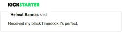 Kickstarter Testimonial TimeDock 14