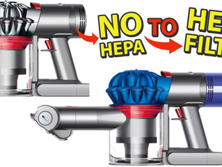HEPA Filter Conversion for DYSON V7, V8 Cordless Battery Powered Vacuum - Replace Foam Filter SV11
