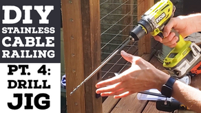 Cheapest DIY Stainless Cable Deck Railing Pt.4: Post Hole Drilling Jig Guide Made From Wood 2x4