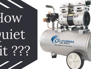 HOW QUIET IS IT??? California Air Tools 8010 Ultra Quiet Compressor Unboxing and Testing the noise