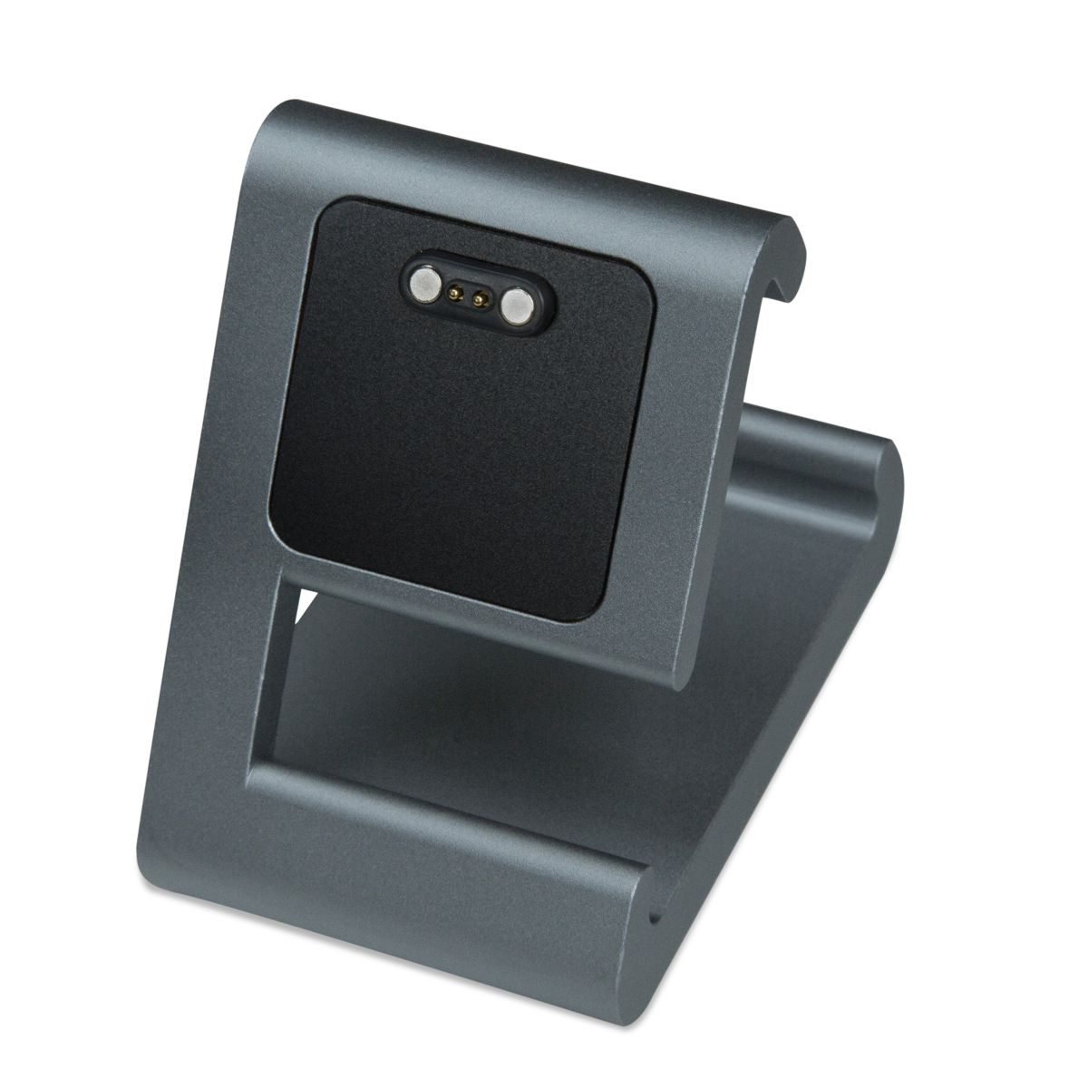 TimeDock Gunmetal charging dock for Pebble Time