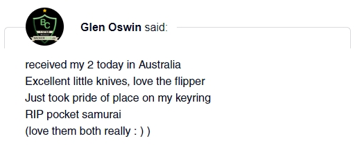 braza bro edc mini knife review Glen Oswin