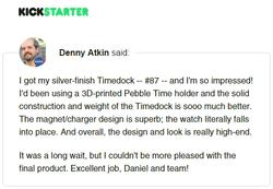 Kickstarter Testimonial TimeDock 1