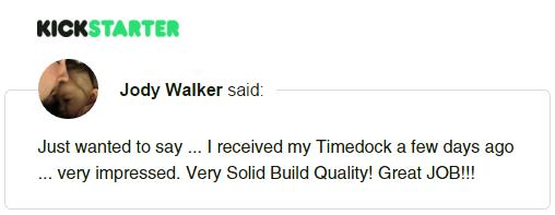 Kickstarter Testimonial TimeDock 4
