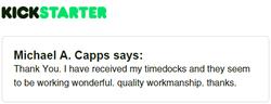 Kickstarter Testimonial TimeDock 15